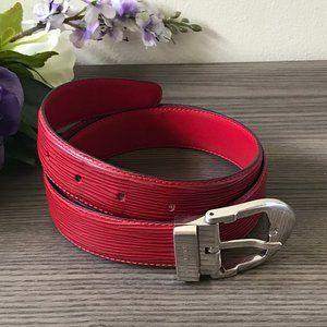 Louis Vuitton Red Classic Epi Leather Belt  sz 30